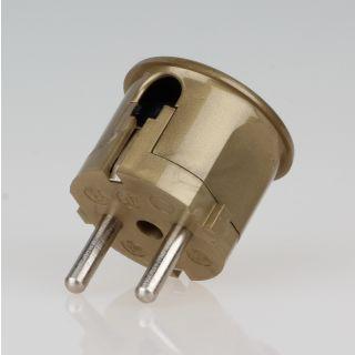 Schutzkontakt-Stecker Winkelstecker gold 250V/16A