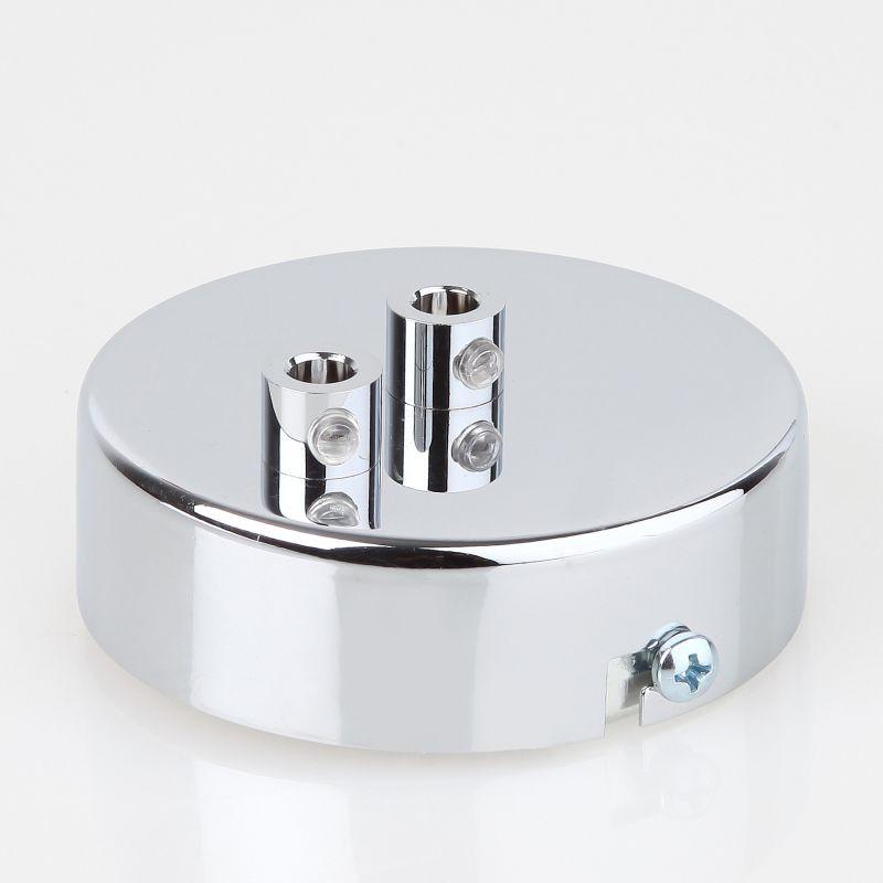 lampen metall baldachin 80x25mm verchromt f r 2 lampenpendel kaufen 26 95. Black Bedroom Furniture Sets. Home Design Ideas