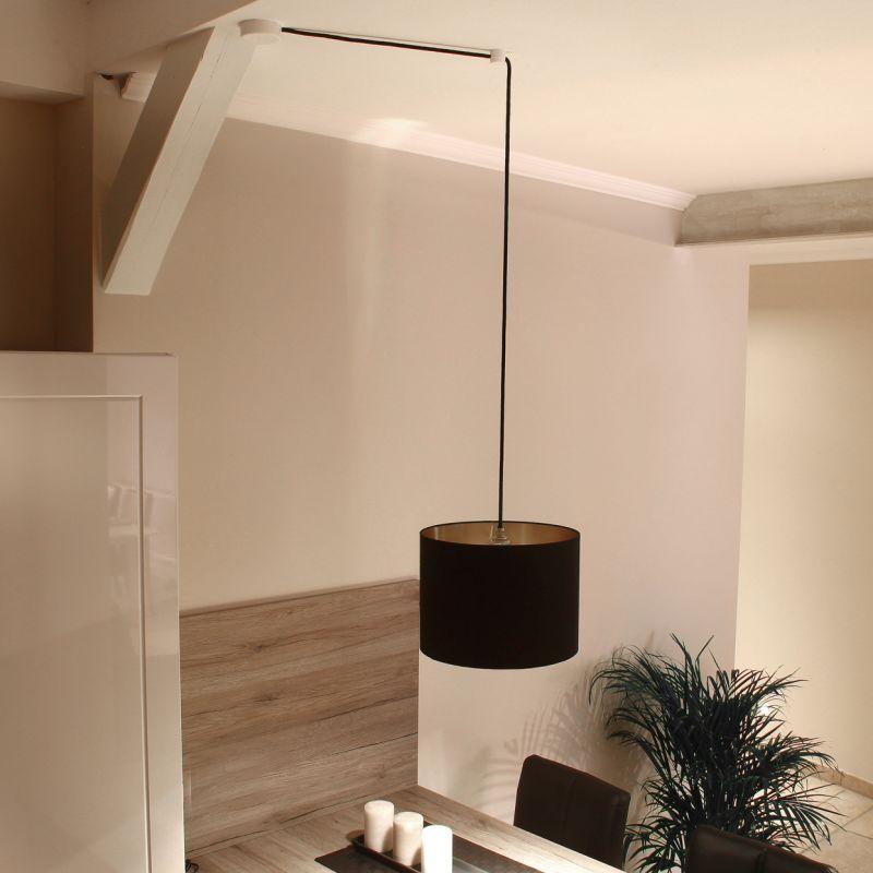 lampen distanz aufh nger affenschaukel weiss baldachin 2 60. Black Bedroom Furniture Sets. Home Design Ideas