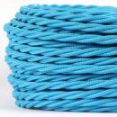 Textilkabel hellblau 3 adrig 3x0,75 gedreht doppelt isoliert
