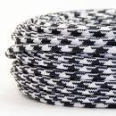 Textilkabel Hahnenkamm Muster 2-adrig 2x0,75...