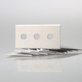 10 x Ersatzklinge für Glasschaber Glasflächenschaber Metall 43x22 mm