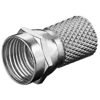 Aufdreh F-Stecker 18mm Zink-Nickel für Kabeldurchmesser bis 7 mm
