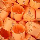 25 x Kaiser Geräte-Verbindungsdose Unterputzdose orange