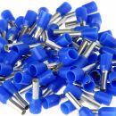 100 x Aderendhülsen 2,5 mm² 15 mm blau isoliert