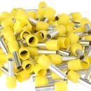 100 x Aderendhülsen 6,0 mm² 20 mm gelb isoliert