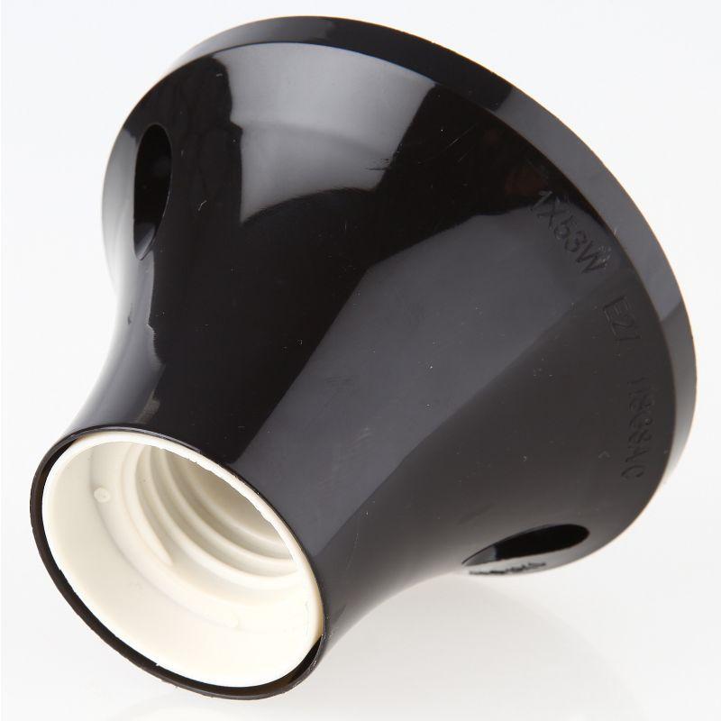 e27 deckenfassung wandfassung schwarz sockel gerade 75w 250v 3 95. Black Bedroom Furniture Sets. Home Design Ideas