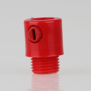 Zugentlaster Kunststoff rot mit M10x1x7 Aussengewinde