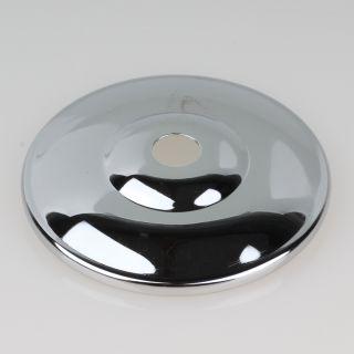 Kuppelscheibe Abschlußscheibe Metall verchromt Durchmesser 65 mm
