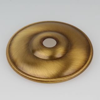 Kuppelscheibe Abschlußscheibe Metall antik fume Durchmesser 65 mm