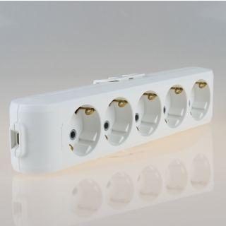 Panasonic 5-fach Tischsteckdose Steckdosenleiste weiß 250V/16A ohne Kabel Zuleitung