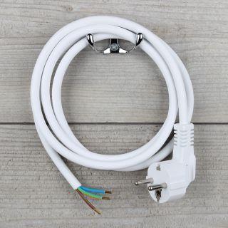 1,5m Anschlussleitung weiß 3x1,5mm² mit Schutzkontakt-Stecker
