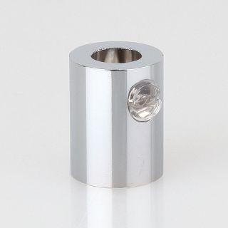 Zugentlaster Metall verchromt mit M10x1 Innengewinde