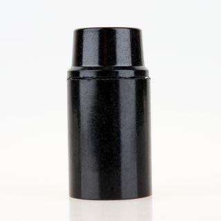 E14 Bakelit Fassung schwarz mit Glattmantel M10x1 IG