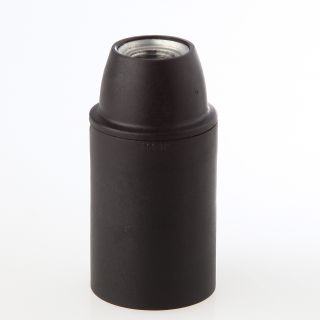 E14 Thermoplast Fassung schwarz Glattmantel M10x1 IG