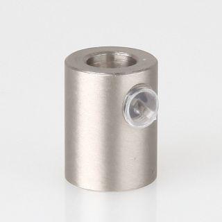 Zugentlaster Metall edelstahloptik mit M10x1 Innengewinde