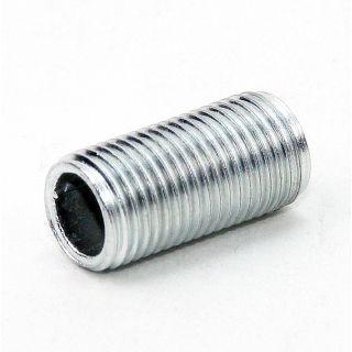 Lampen Gewinderohr Länge 20mm verzinkt M10x1x20