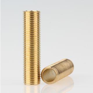 Lampen Gewinderohr Länge 40mm Messing roh M10x1x40
