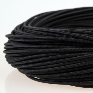Textilkabel Stoffkabel schwarz 1-adrig 1x0,75mm² Einzeladerleitung