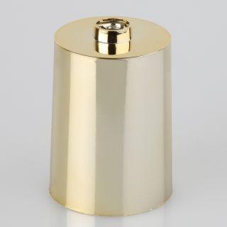 Lampen Leuchten Baldachin 60x85mm Kunststoff messingfarbig Zylinderform für 10er Rohr
