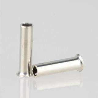100 x Aderendhülsen 0,75 mm² 6 mm unisoliert aus Metall
