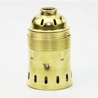 E40 Metall Lampen Fassung Messing Gebeizt Passiviert 62x98mm