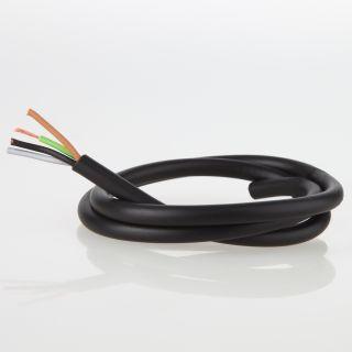 PVC Lampenkabel Rundkabel schwarz 4-adrig 4x0,75mm² H03 VV-F