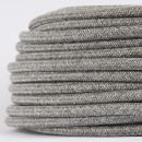 Textilkabel Stoffkabel steingrau 3-adrig 3x0,75...