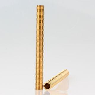 Lampen Gewinderohr Länge 1000mm Messing roh M10x1x1000