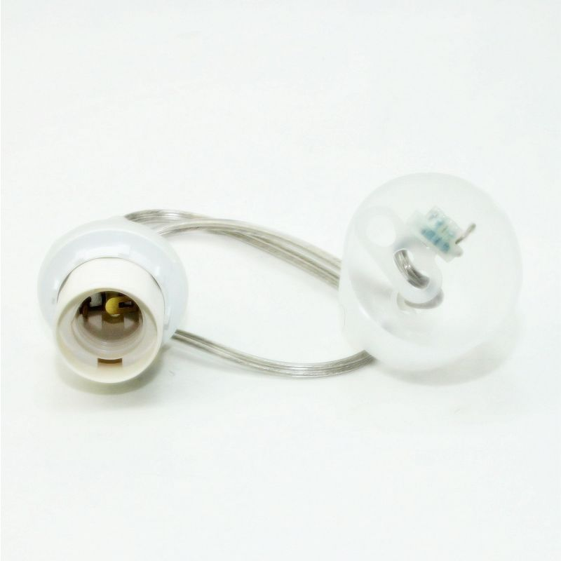 e27 lampen leuchtenpendel kunststoff transparent 120cm lang mit balda. Black Bedroom Furniture Sets. Home Design Ideas