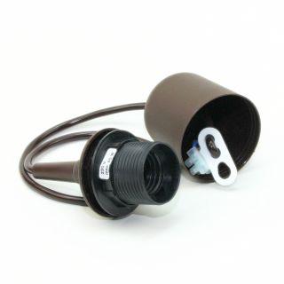 e27 leuchtenpendel kunststoff braun 70cm mit baldachin 3 95. Black Bedroom Furniture Sets. Home Design Ideas