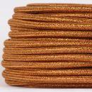 Textilkabel Stoffkabel kupfer metallic 3-adrig 3x0,75...