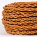 Textilkabel Stoffkabel englisch-gold 3-adrig 3x0,75...