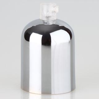E27 Metall Fassungshülse Zierhülsen-Set verchromt poliert mit Lampenfassung und Zugentlaster