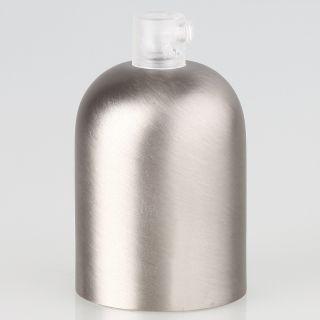 E27 Metall Fassungshülse Zierhülsen-Set Nickel matt (edelstahloptik) mit Lampenfassung und Zugentlaster