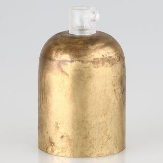 E27 Metall Fassungshülse Zierhülsen-Set Messing roh mit Lampenfassung und Zugentlaster