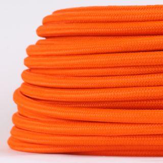 Textilkabel Stoffkabel orange 3-adrig 3x0,75 Gummischlauchleitung 3G 0,75 H03VV-F textilummantelt