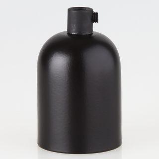 E27 Metall Fassungshülse Zierhülsen-Set schwarz mit Lampenfassung und Zugentlaster