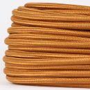 Textilkabel Stoffkabel englisch gold 2-adrig 2x0,75...