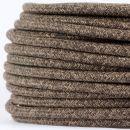 Textilkabel Stoffkabel braun meliert 2-adrig 2x0,75...