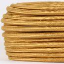 Textilkabel Stoffkabel gold 2-adrig 2x0,75...