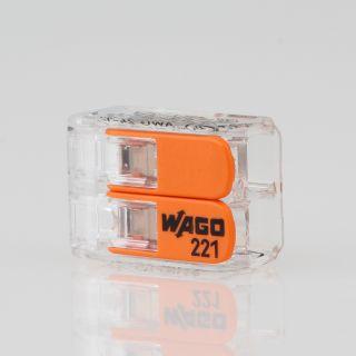 221-412 Wago Compact Verbindungsklemme 2-polig für alle Leitungsarten