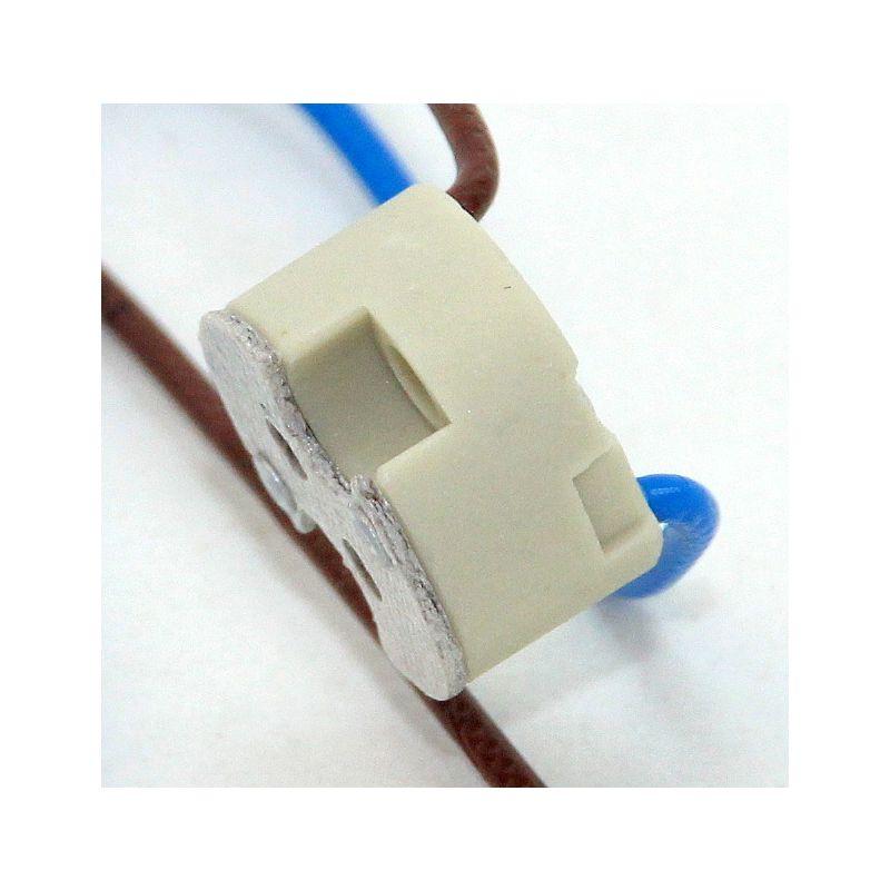 12v niedervolt halogen fassung g4 gy6 35 mit 1 meter kabel mit ptfe. Black Bedroom Furniture Sets. Home Design Ideas