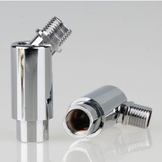 Lampen Dreh-Kippgelenk verchromt M10x1 AG auf M10x1 IG 16x48mm