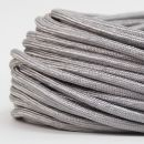 Textilkabel Stoffkabel silber 2-adrig 2x0,75...