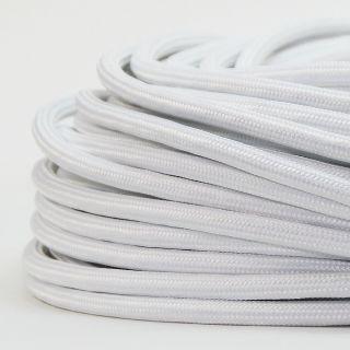 Textilkabel Stoffkabel weiss 2-adrig 2x0,75 Zug-Pendelleitung S03RT-F