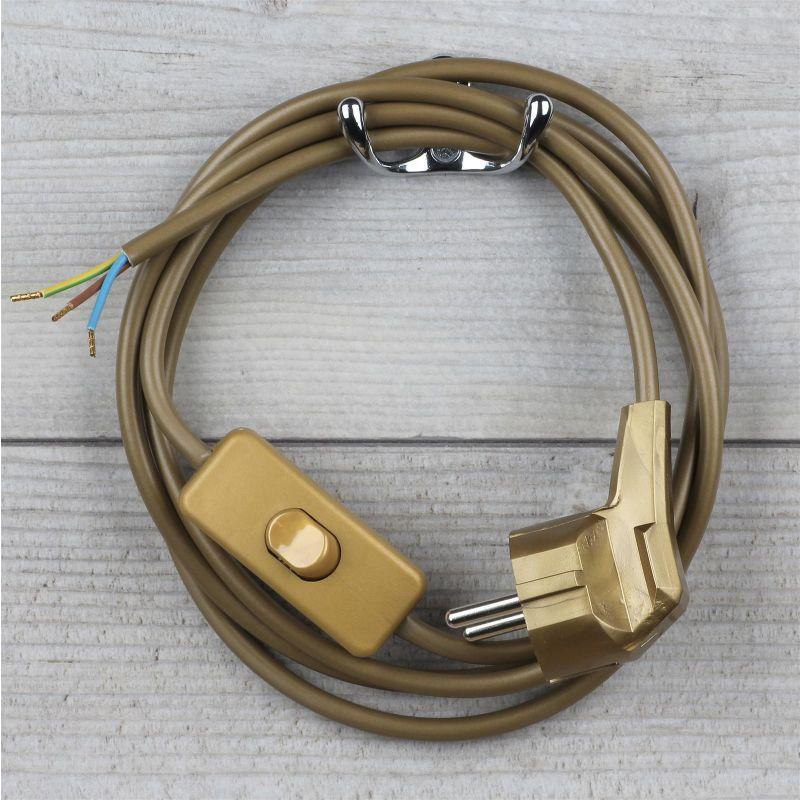lampen anschlussleitung mit schalter und stecker 7 95. Black Bedroom Furniture Sets. Home Design Ideas