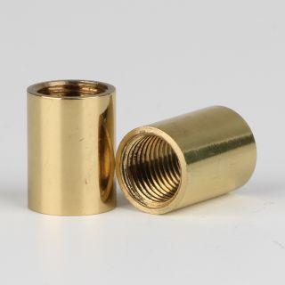 Verbindungs-Muffe Gewinde-Adapter Messing poliert M10x1 Innengewinde auf M10x1 Innengewinde 12x16mm
