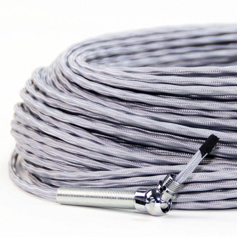 Beliebt Textilkabel silber 3-adrig extra dünn kaufen, 2,95 € EO46